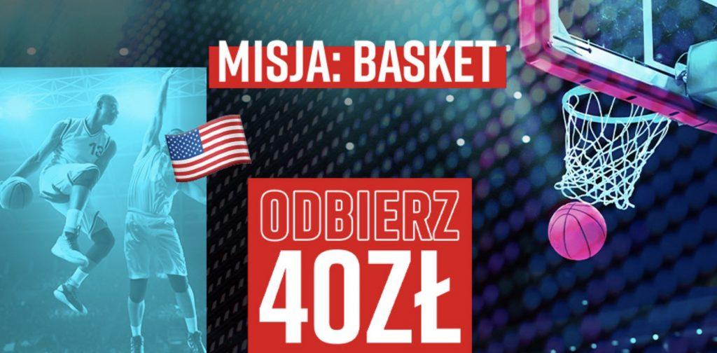 Koszykarski bonus Betclic Polska. 40 PLN na start NBA!