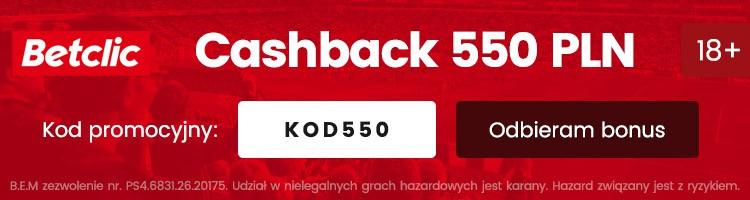 nowy bonus w betclic 550 PLN