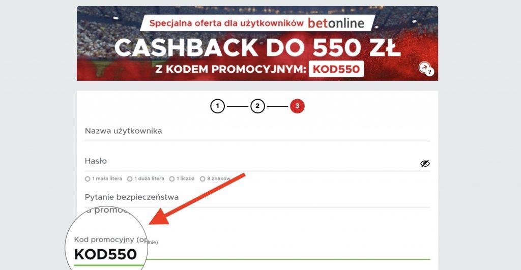 Betclic kod na bonus powitalny 550 zł. Cashback w pierwszym kuponie online!