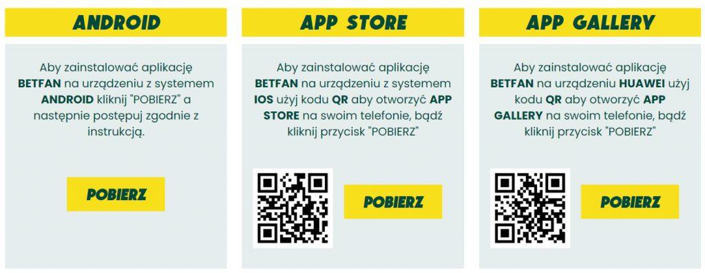 Aplikasi seluler Betfan