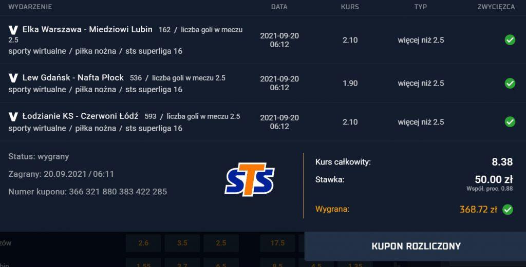 STS memenangkan kupon dalam olahraga virtual